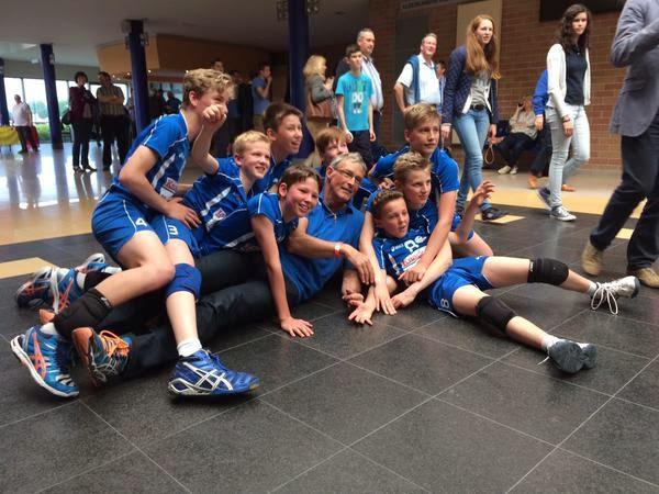 U13 Knack Roeselare Kampioen van België volleybal