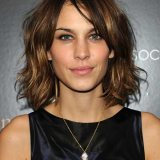 short hair with side bangs for brunettes 2016