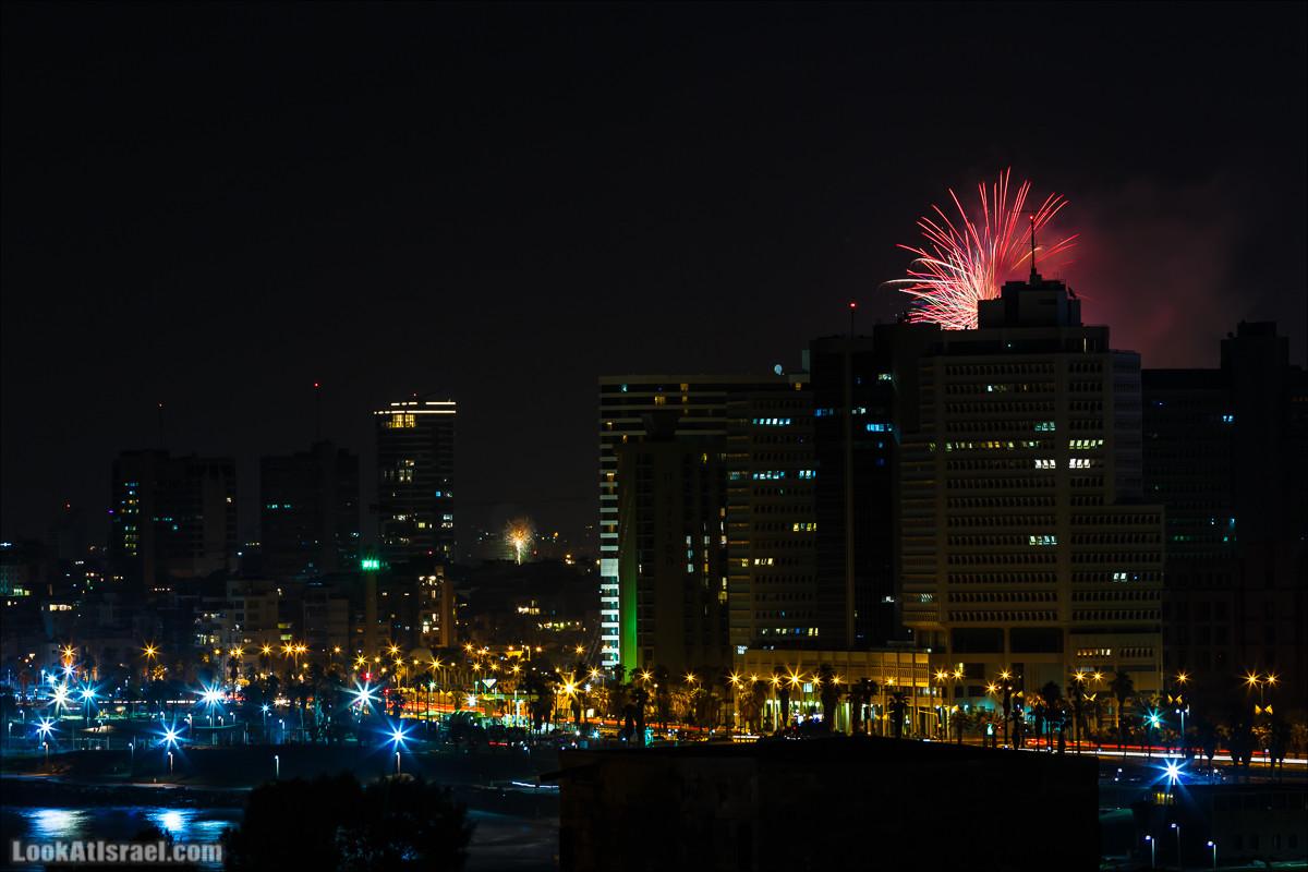Яффский вид на салют Дня Независимости