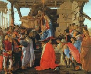 Botticelli Sandro, 1475, Adorazione dei Magi - Firenze, Uffizi. (fonte web)