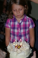 Nadia and her cake.