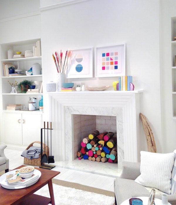 Idea decorar chimenea