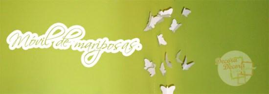 Hacer un móvil de mariposas.