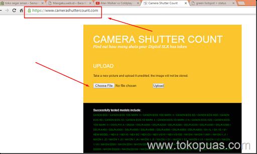 cara check shutter count camera dslr