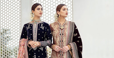 Qalamkar Luxury Velvet Collection 2021 Available online and In-stores