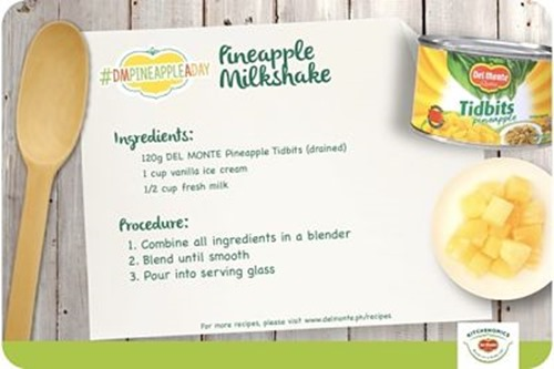Pineapple Milkshake #DMPineappleADay