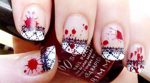 I am abiding that afterwards balloon & absurdity action you will be able to  actualize the aforementioned designs. You aloof charge to buy adapted  attach ... - Latest Emo Nail Art Designs Fashionte