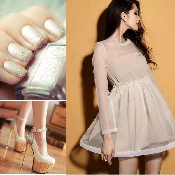 SUITABLE DRESS COLORS YOU WEAR WITH BEAUTIFUL NAIL ARTS 4