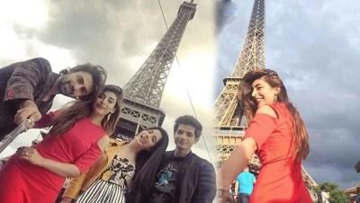 Lavish Pictures when Farhan Saeed Proposed Urwa Hocane at Effel Tower in Paris