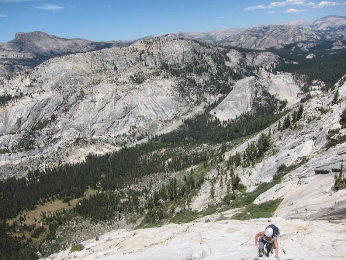 Climbing Tenaya Peak, Yosemite