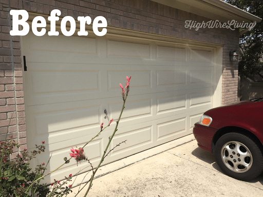 garage door accents before
