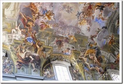 Triomf van Sint Ignatius van Loyola - detail (America en Europa) - Andrea Pozzo