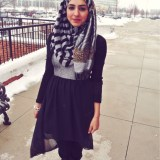 trendy winter outfit fashion hijab styles 2016