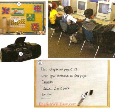 Classroom - School - Picture Dictionary