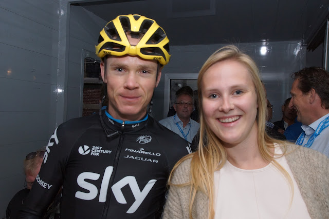Laura Naessens en Chris Froome