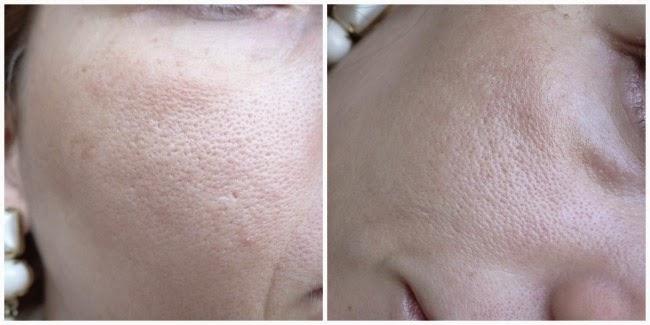 Base Lumiere Chanel -antes e depois