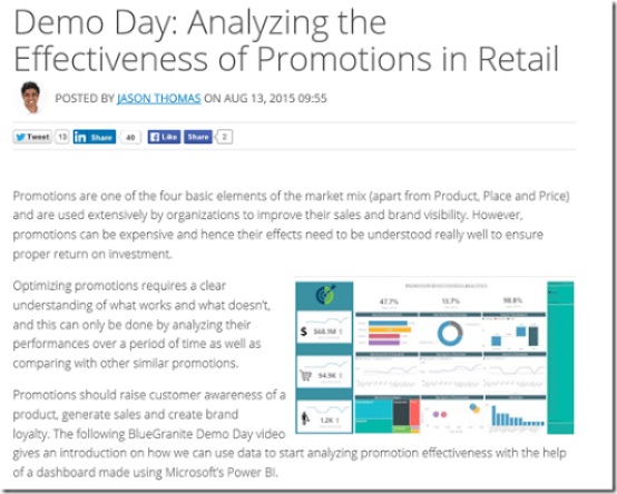 Demo Day: Analyzing the Effectiveness of Promotions in Retail