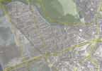 Luftaufnahme des Waldstraßenviertels aus dem Jahr 1953