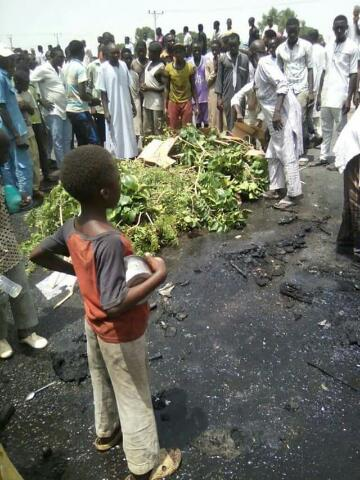 6 People Burnt To Death,Others Injured In A Terrible Accident Between Motorcycle Rider & Car Driver In Kano(Photos)
