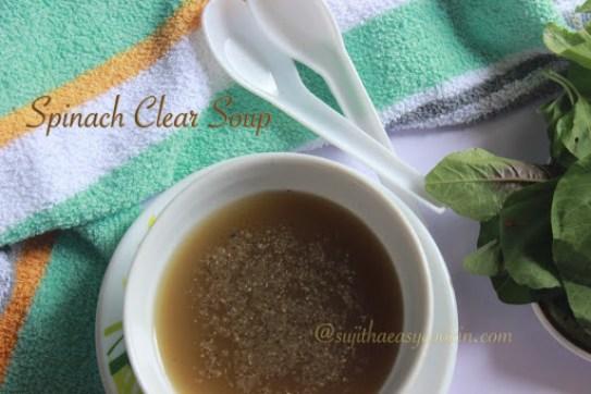 Spincah Clear soup