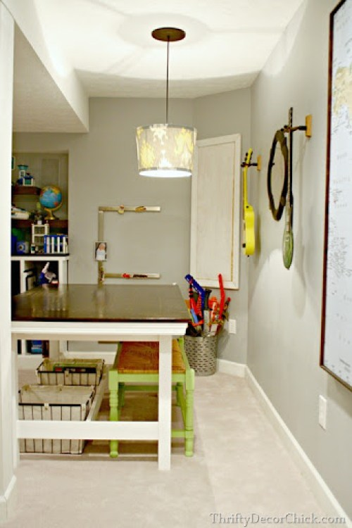 Ikea Table Turned Farmhouse By Sarah Of Thrifty Decor