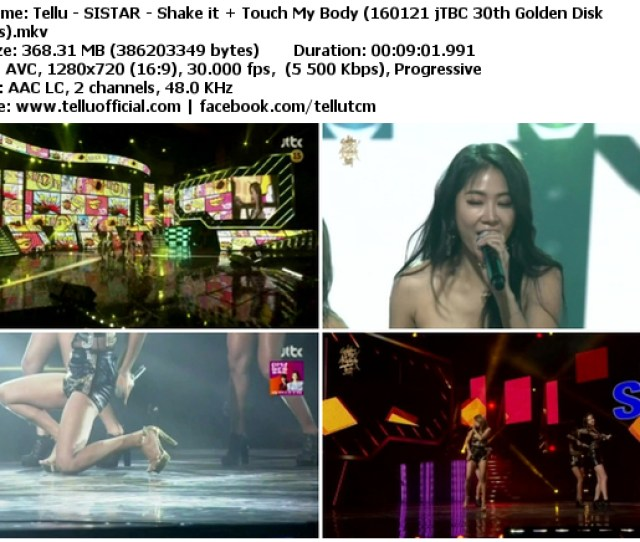 Download Music Video File Perf Sistar Shake It Touch My Body Jtbc 30th Gnewen Disk Awards  Mib Hosted Gd Mega