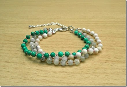 Gemstone Thread Bracelet Stack