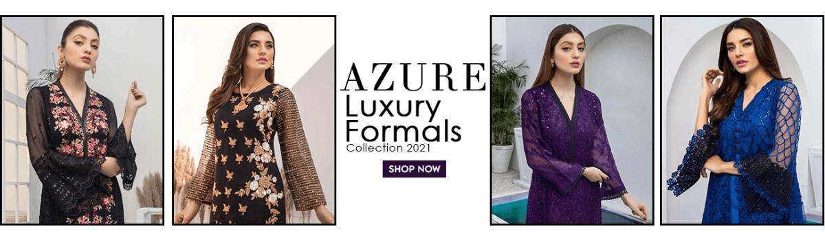 Azure Luxury Formals Unstitched Shirts Collection 2021