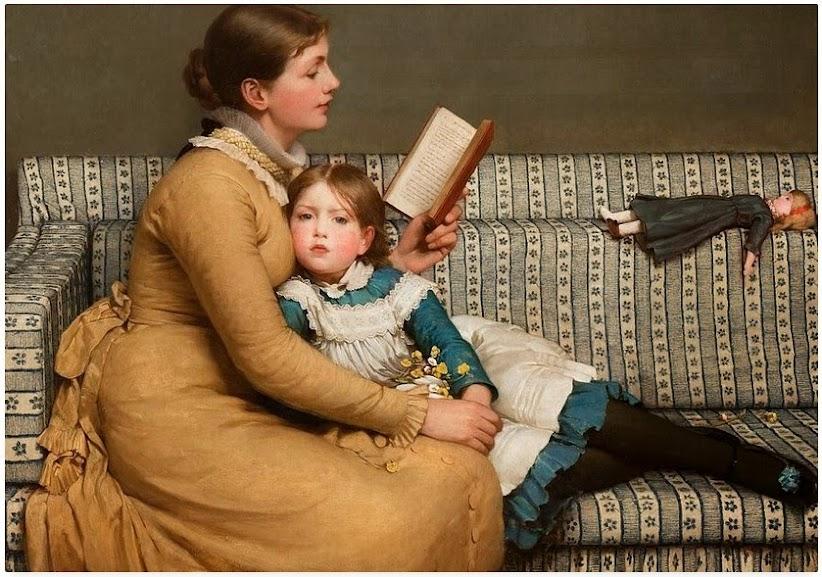 Maternidade em obras de arte Alice In Wonderland - George Dunlop Leslie