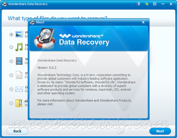 Wondershare Data Recovery Licence key