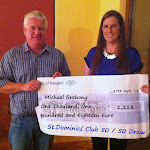 Nicola Brehoney receiveing Cheque on behalf of Michael Brehony.jpg