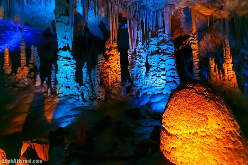 Сталактиты пещеры Сорек