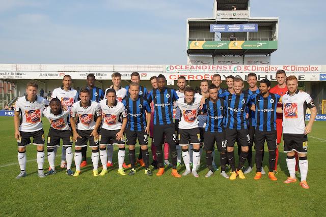 groepsfoto SV Roeselare en Club Brugge