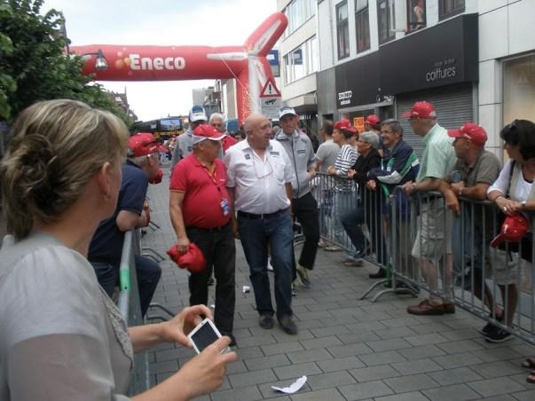 Hilaire van der Schueren(ploegleider) en Lieuwe Westra van Vacansoleil-DCM