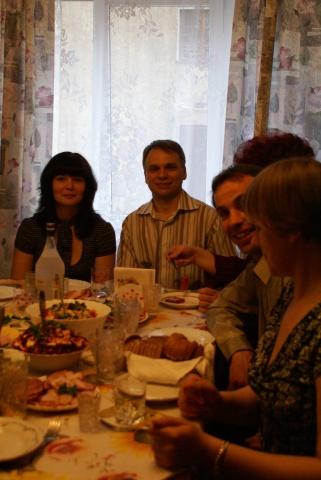 Russian food and friends