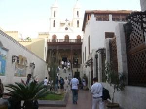 l'église suspendue au Quartier Copte