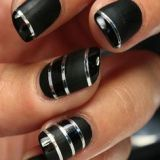 black nail art for womens style 2016