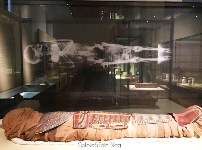 momia en el museo arqueológico nacional de españa