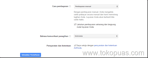 cara pembayaran google adwords indonesia