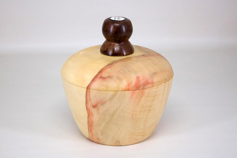"Tim Aley 6"" x 6"" BoC Box [box elder, redwood burl, bead]"
