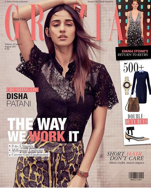 Disha Patni in Grazia India Magazine Cover Page