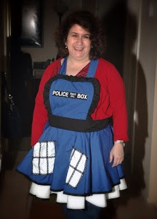 "I'll be ""The Doctor's Wife"" in my TARDIS pinafore"