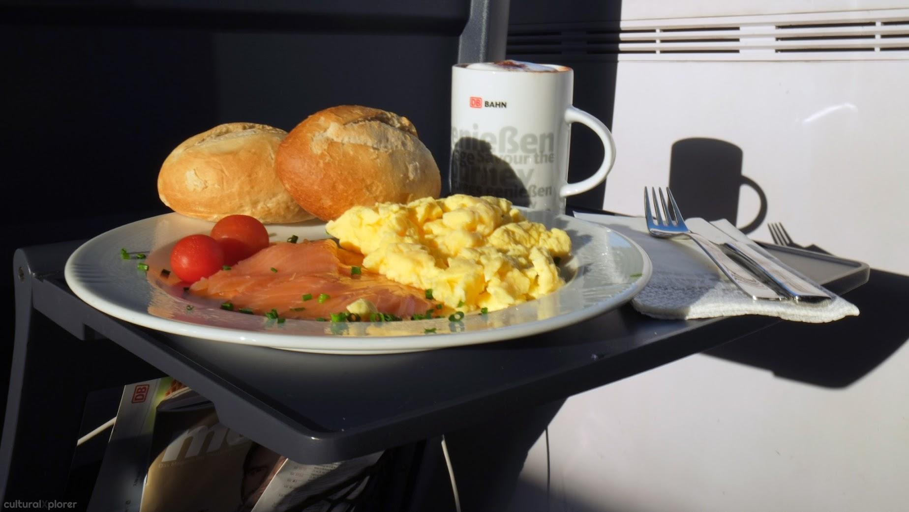 breakfast DB Bahn Germany