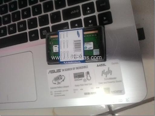 tutorial memasang ram laptop