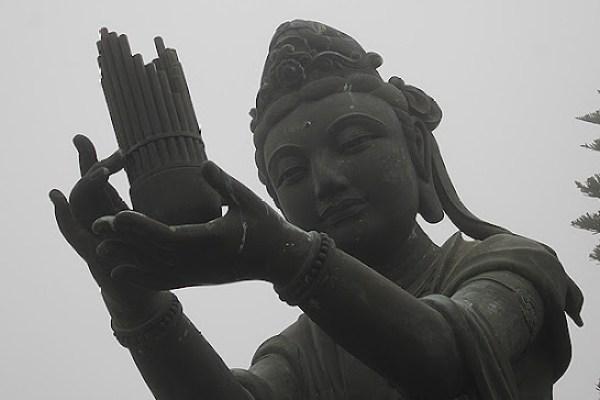 lotus goddess, honoring buddha