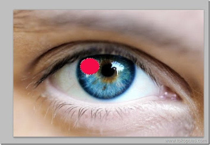 trik pewarnaan mata pelangi photoshop