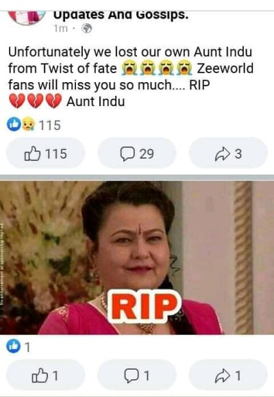 Zeeworld Lovers Grieves As Bollywood Loses Another Actress - 1603133190708756 1 - Zeeworld Lovers Grieves As Bollywood Loses Another Actress Zeeworld Lovers Grieves As Bollywood Loses Another Actress - 1603133190708756 1 - Zeeworld Lovers Grieves As Bollywood Loses Another Actress