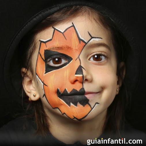 halloween-pintacaras-disfraz-maquillaje-niños-infantil-calabaza