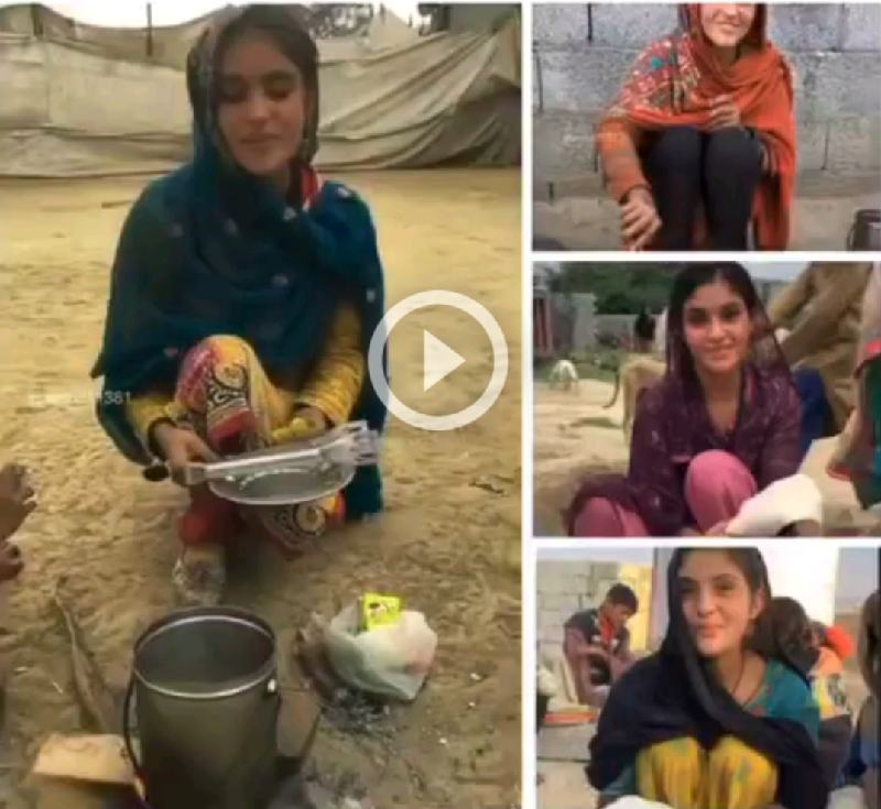 Pakistani village girl going viral over Tiktok and Instagram with her Daily Chores Videos