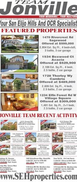 Jonville Team sells San Elijo Hills Real Estate
